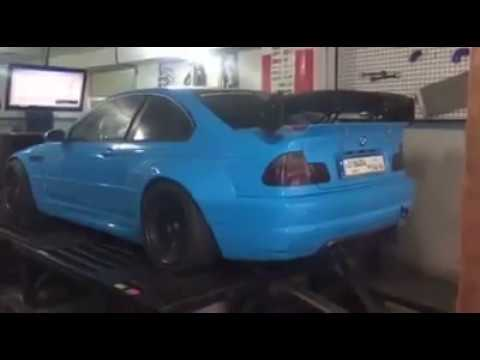 Custom Modified BMW 3 Series E46 Coupe Dyno Exhaust Engine Sound