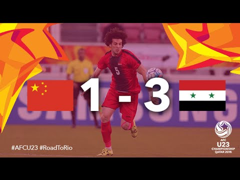 CHINA vs SYRIA: AFC U23 Championship 2016 (Group Stage)