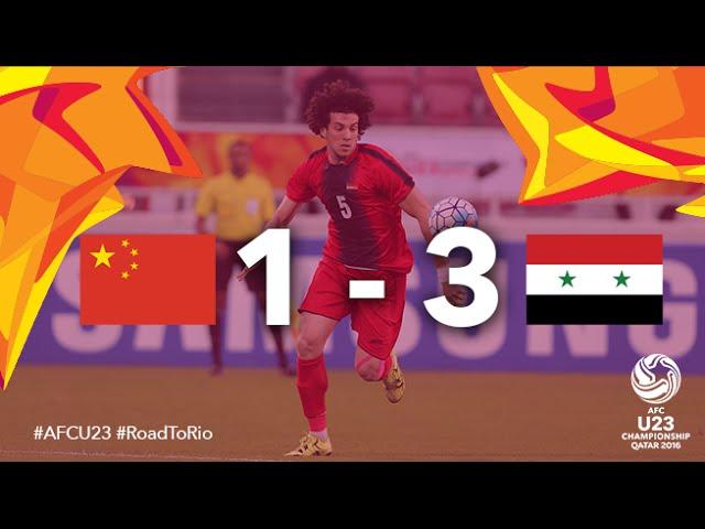 Video: U23 Trung Quốc vs U23 Syria