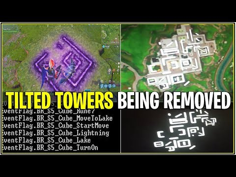 *NEW* Fortnite: TILTED TOWERS BEING REMOVED! | (Cube Symbols on Grass Solved!)