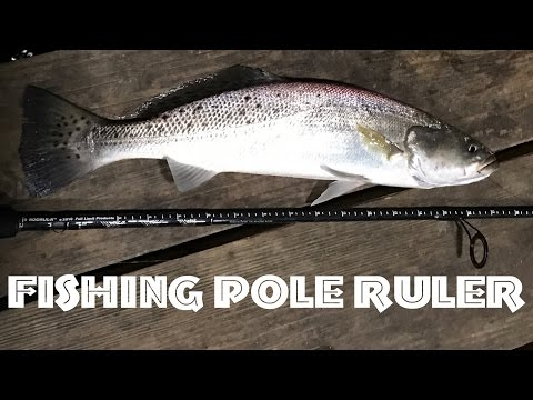🐠Fishing Pole Ruler Review Install for Pike Fish, Redfish, Trout, Flounder, etc.