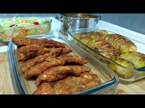 Hafta Sonuna Yakışır Akşam Yemeği Menüsü/Şinitzel/Yelpaze Patates/Yüksük Çorbası/Seval Mutfakta