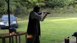 Me shooting a 9,3x74R. Kicks like a mule!