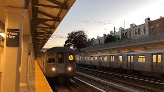 NYC Subway | R68 (W) & R68A (N) Trains @ Kings Hwy