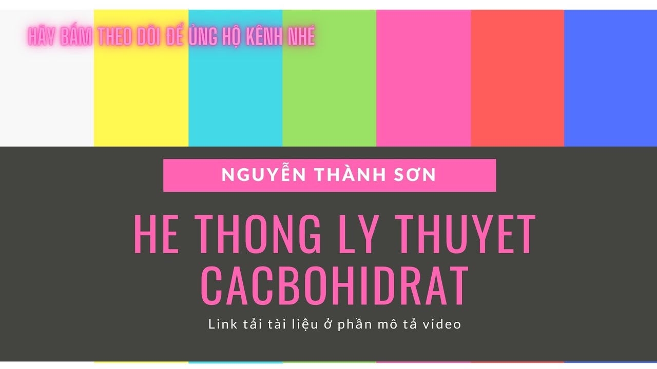 36-HÓA 12- CACBOHIDRAT -ÔN TẬP LÝ THUYẾT TRỌNG TÂM | Thầy Nguyễn Thành Sơn.