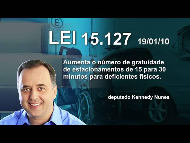 LEI 15.127 - Estacionamento para deficientes