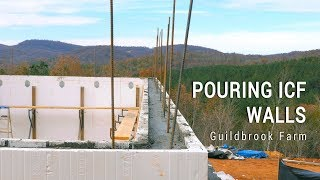 ICF Mountain Homestead: Pouring Basement with FoxBlocks Insulated Concrete Forms