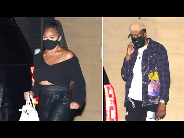 Jordyn Woods And Karl Anthony-Towns Dine At Nobu After Going Instagram Official