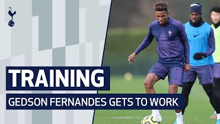 TRAINING | GEDSON FERNANDES GETS TO WORK AT HOTSPUR WAY