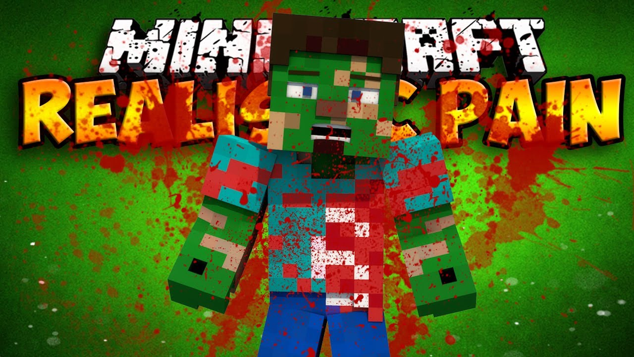 Realistic Pain Mod BLOOD AND GORE Minecraft Mod