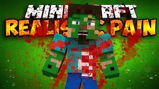Realistic Pain Mod - BLOOD AND GORE! (Minecraft Mod Showcase)