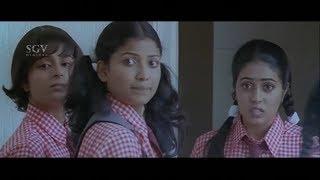 Rocky help heroine during Periods in College | Josh Kannada Movie | Kannada Comedy Scenes
