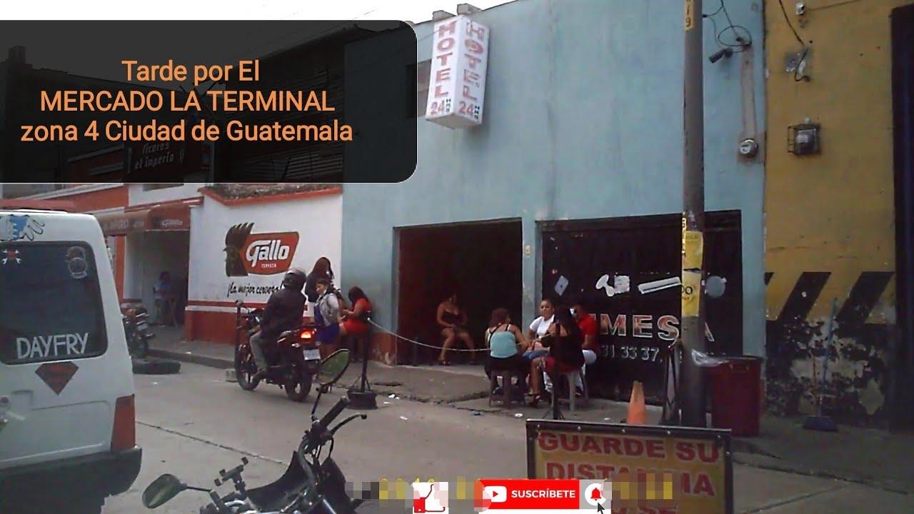 tarde en el mercado La terminal zona 4 ciudad de guatemala