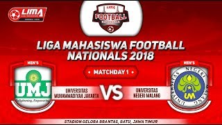 UMJ VS UNIV. NEGERI MALANG, LIGA MAHASISWA FOOTBALL NATIONALS 2018, 18 September 2018