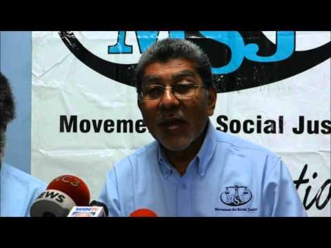 Movement for Social Justice Media Conference -Feb., 21, 2016 Trinidad & Tobago