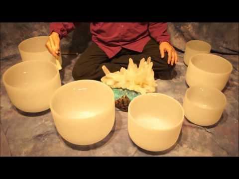 Crystal Bowl Chakra (70 Min ) Meditation C to B ~ Low to