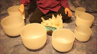 Repeat youtube video Crystal Bowl Chakra (70 Min.) Meditation C to B ~ Low to High Tones
