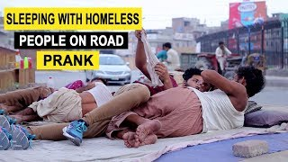 SLEEPING WITH HOMESLESS PEOPLE ON ROAD - LAHORI PRANKSTAR