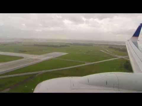 Turbulent and Rainy Landing in Washington Dulles International Airport