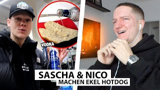 Justin reagiert auf Saschas & Nicos Ekel Hotdog Prank.. | Reaktion