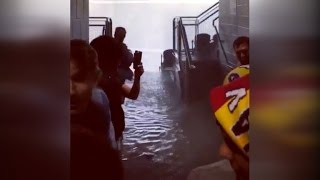 Thousands of Soccer Fans Seek Shelter From Severe Flooding in Chicago