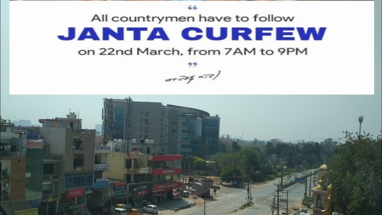 Janta karfuw Day 22 March 2020 to fight against Corona virus in Gurgaon Dundahera, Gurugram, Haryana