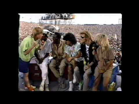 MTV Interview - Hall & Oates with Ruffin & Kendricks (MTV - Live Aid 7/13/1985)