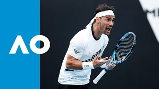 Watch the match highlights from reilly opelka vs. fabio fognini, 01/21/2020