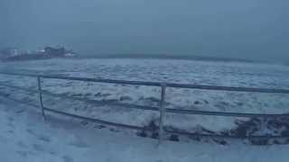 Giant waves during winter storm at King