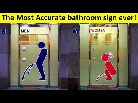 Bathroom Signs That Will Really Make You Think... And LOL