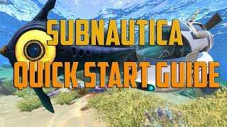 Subnautica - Beginners quick start guide (Materials/Items/Tools)
