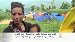 آلاف الأسر النيبالية تعيش في الخيام بسبب الانهيارات