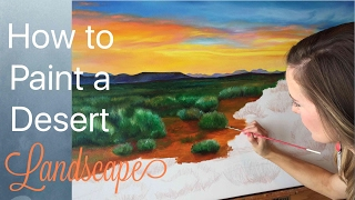Desert Landscape Painting Tutorial: Part Two, by Artist, Andrea Kirk | The Art Chik