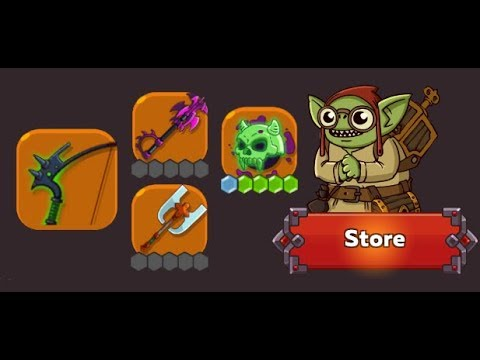 Hustle Castle - Purchasing 4 Random Legendary items in the Portal Store