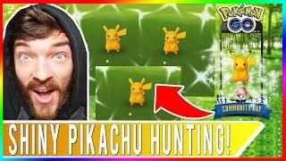 SHINY PIKACHU EVERYWHERE! WE GOT 4 SHINY PIKACHU! Pokemon GO Community Day Adventures in Davis, CA!