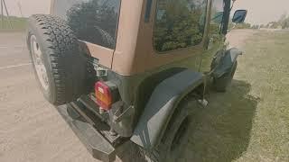 Jeep wrangler YJ. 4.0L. Cкорость.