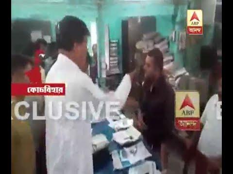 CoochBehar: North Bengal development minister startles bank worker, Watch