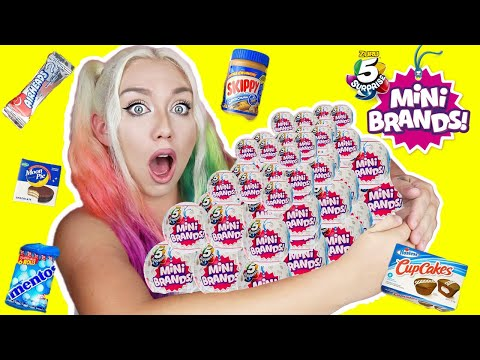 OPENING 100 MINI BRANDS!! RARE MYSTERY Mini Brands!! LIMITED, RARE, SUPER RARE FINDS