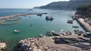 Spiaggia FONTANA DELLE ROSE,Mattinatella,Mattinata panoramica spettacolare