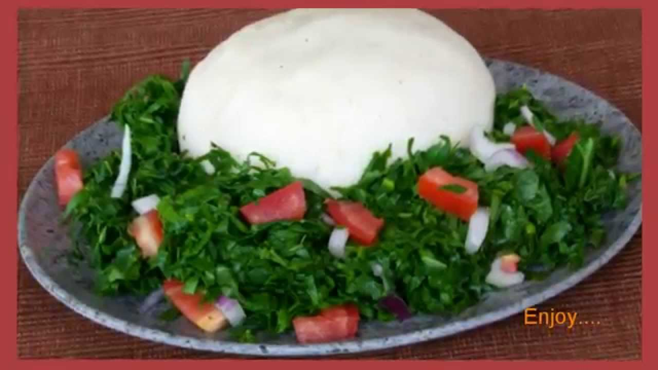 How to Make Ugali & Sukuma Wiki- Kenya Signature Meal - YouTube