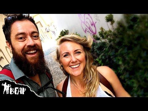 Couple Travel Vloggers Exploring Barrio La Candelaria   Bogotá, Colombia