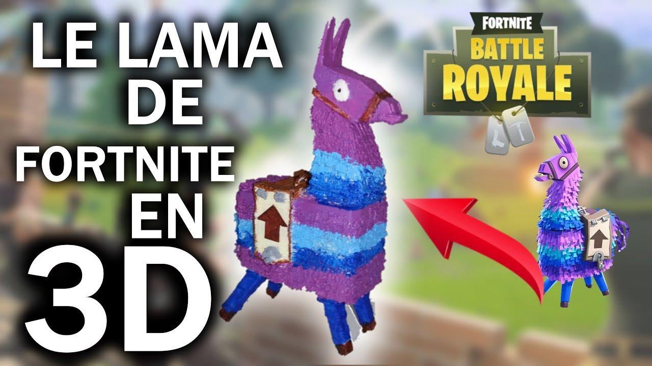 J Imprime Le Lama De Fortnite En 3d Impression 3d Fortnite