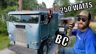 Blue Collar Cabover gets and INSANE CB Radio Setup! HUGE POWER!!