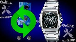 Заміна батарейки в наручних годинниках на прикладі Casio Edifice EFA 120(4334)