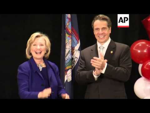 Former Secretary Of State Hillary Rodham Clinton Is Backing New York Gov. Andrew Cuomo In His Bid Fo