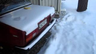 Lada 1200S -22 celsius cold start