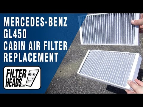 How to Replace Cabin Air Filter 2010 Mercedes-Benz GL450