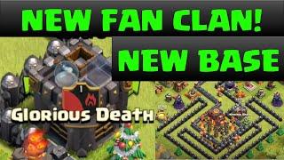 "Clash Of Clans NEW WAR CLAN Fan Clan ""Glorious Death!"""