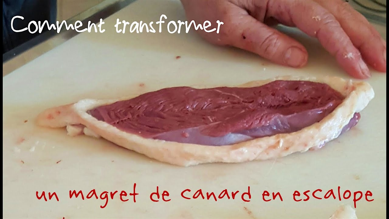 Comment pr parer un magret de canard fa on escalope youtube - Comment cuisiner un magret de canard ...