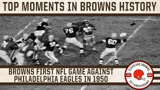 Top 10 Moments: Browns play first NFL game on Sept. 16, 1950